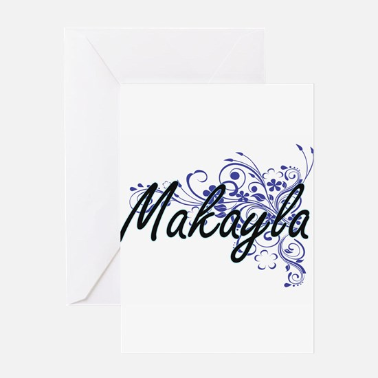 Makayla Artistic Name Design with F Greeting Cards