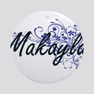 Makayla Artistic Name Design with F Round Ornament