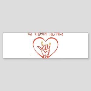 US VIRGIN ISLANDS (hand sign) Bumper Sticker