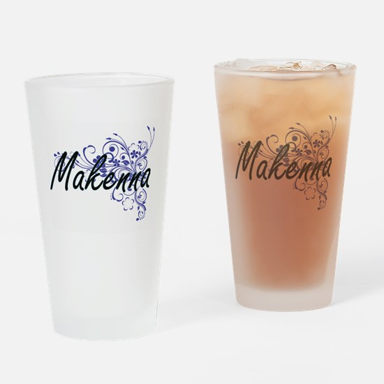 Makenna Artistic Name Design with F Drinking Glass