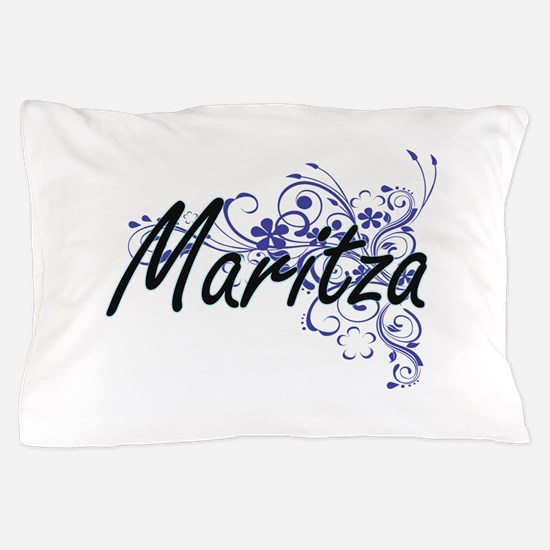 Maritza Artistic Name Design with Flow Pillow Case