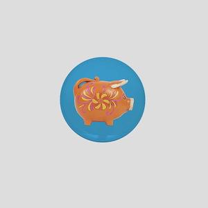 Vintage Toy Pig Art Mini Button