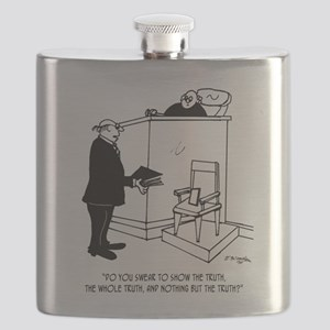 Cell Phone Cartoon 9357 Flask