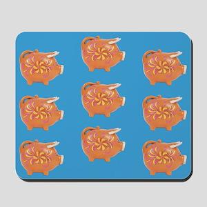 Vintage Toy Pig Art Mousepad