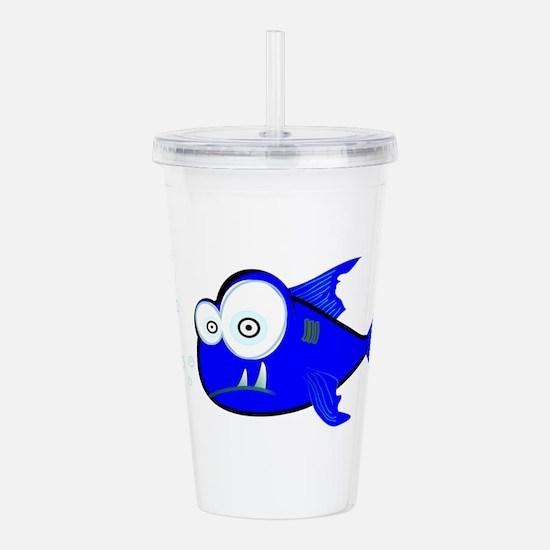 Cute Fishy Acrylic Double-wall Tumbler