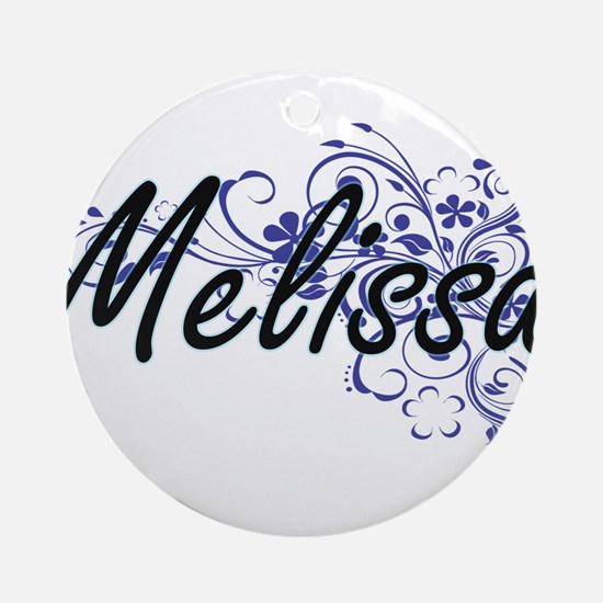 Melissa Artistic Name Design with F Round Ornament