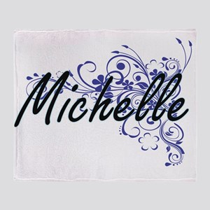 Michelle Artistic Name Design with F Throw Blanket