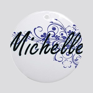 Michelle Artistic Name Design with Round Ornament
