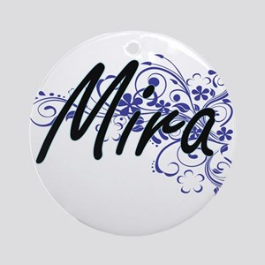 Mira Artistic Name Design with Flow Round Ornament