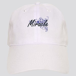 Miracle Artistic Name Design with Flowers Cap