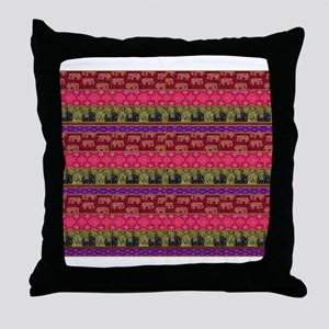 Sacred Elephants Throw Pillow