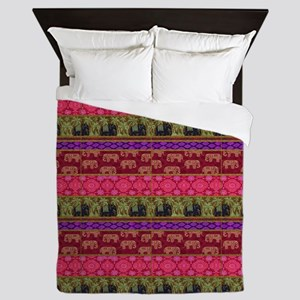 Sacred Elephants Queen Duvet