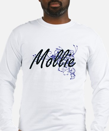 Mollie Artistic Name Design wi Long Sleeve T-Shirt