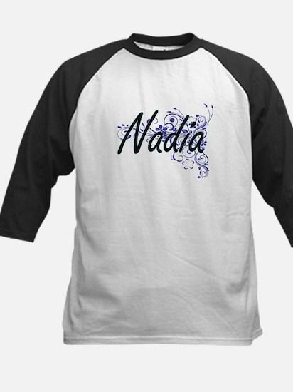 Nadia Artistic Name Design with Fl Baseball Jersey