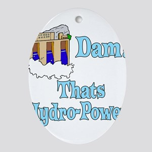 dam! thats water power Oval Ornament