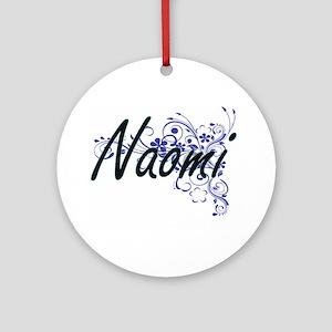 Naomi Artistic Name Design with Flo Round Ornament