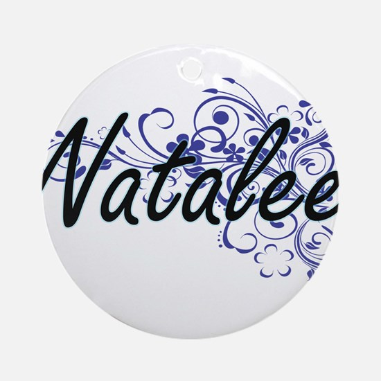 Natalee Artistic Name Design with F Round Ornament