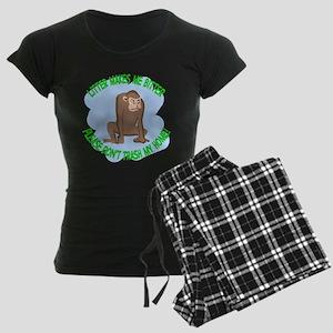 Bitter Litter Monkey Women's Dark Pajamas