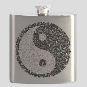 Ying Yang Footprints Flask