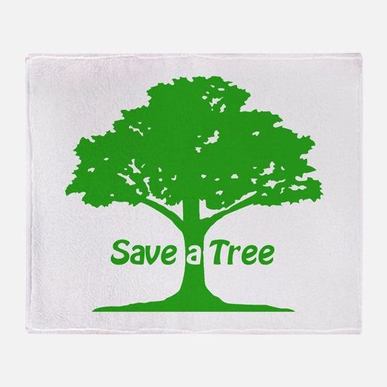 Save a Tree Throw Blanket