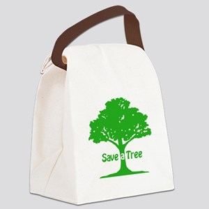 Save a Tree Canvas Lunch Bag