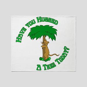 Tree Hugging Chipmunk Throw Blanket