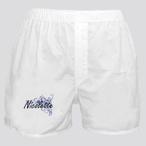 Nicolette Artistic Name Design with F Boxer Shorts