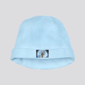 The Moon Vision Chief Wolf Indian Girl baby hat