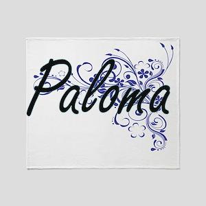 Paloma Artistic Name Design with Flo Throw Blanket