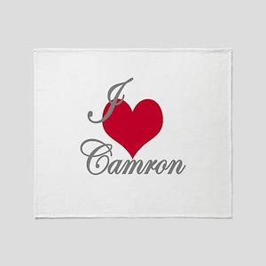 I love (heart) Camron Throw Blanket