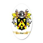 Oppy Oval Car Magnet