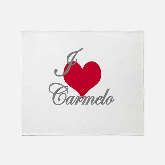 I love (heart) Carmelo Throw Blanket