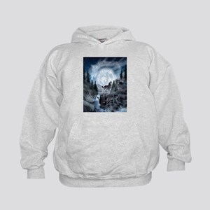 spirt of the wolf Kids Hoodie