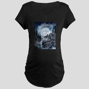 spirt of the wolf Maternity T-Shirt