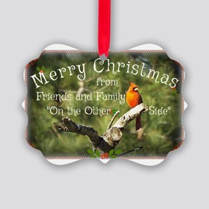 Cardinal Christmas Picture Ornament