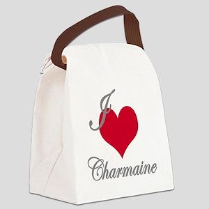 I love (heart) Charmaine Canvas Lunch Bag