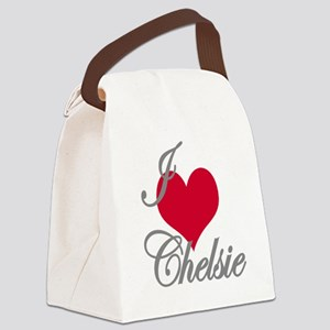 I love (heart) Chelsie Canvas Lunch Bag