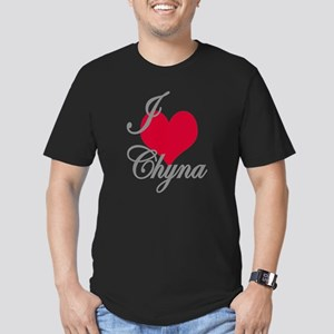 I love (heart) Chyna Men's Fitted T-Shirt (dark)