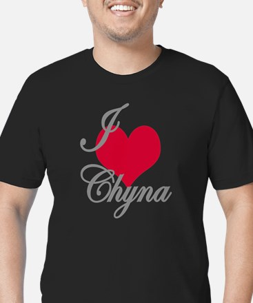 I love (heart) Chyna Men's Fitted T-Shirt (dark)