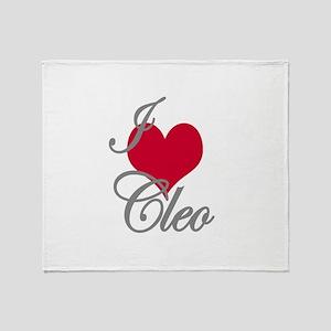 I love (heart) Cleo Throw Blanket