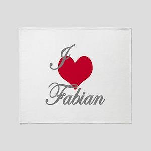 I love (heart) Fabian Throw Blanket