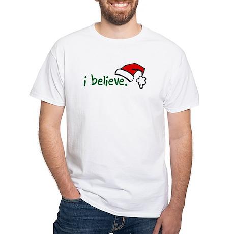 i believe. Women's Dark T-Shirt