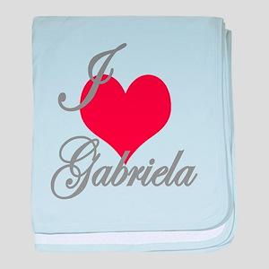 I love (heart) Gabriela baby blanket