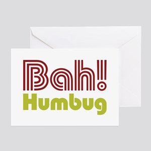 Bah Humbu Greeting Cards