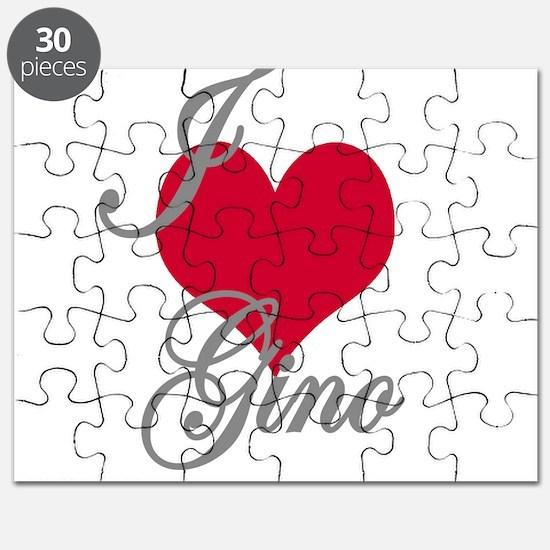 I love (heart) Gino Puzzle