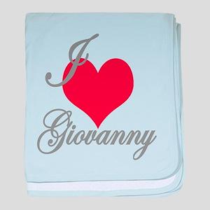 I love (heart) Giovanny baby blanket