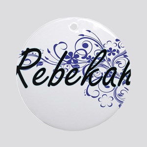 Rebekah Artistic Name Design with F Round Ornament