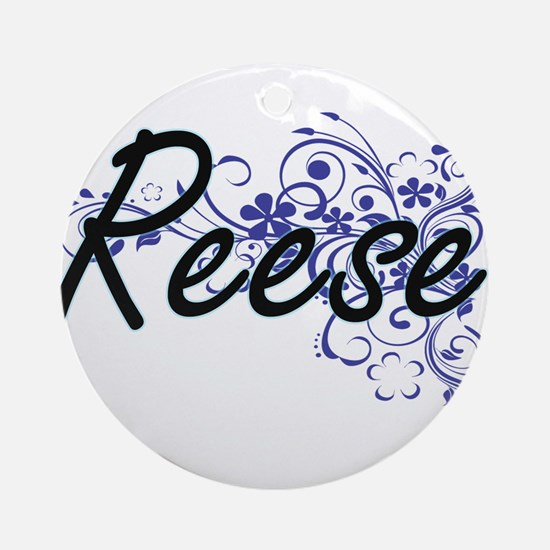 Reese Artistic Name Design with Flo Round Ornament