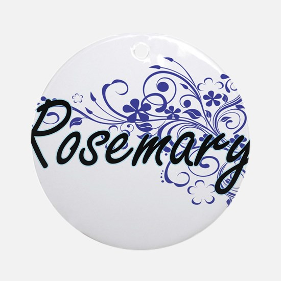 Rosemary Artistic Name Design with Round Ornament
