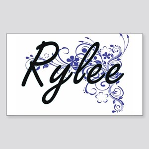 Rylee Artistic Name Design with Flowers Sticker